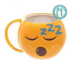 Taza original emoticono dormido