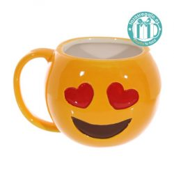 Taza original emoticono enamorado