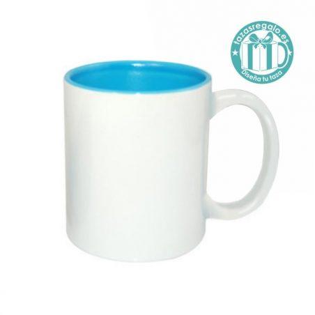 Taza personalizada con interior azul claro