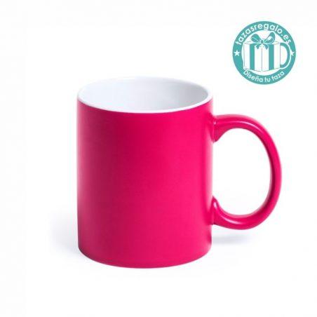 Taza personalizada de color rosa