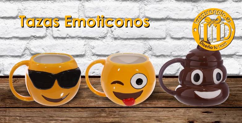 Tazas originales con formas de emoticonos